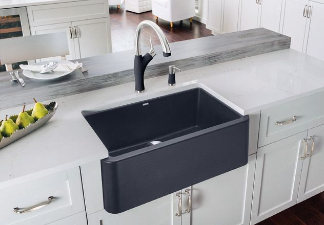 Undermount Apron Front Sink Natural Granite Composite Material