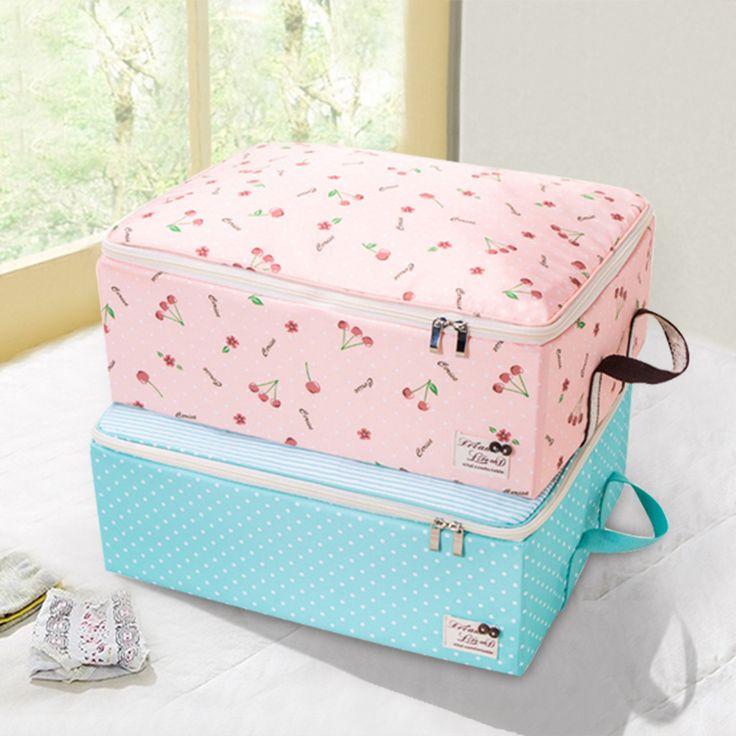 QUBABOBO Folding Clothes Storage Box Clothing Organizer Blouse Pants Children Toys Storage Boxes With Big Capacity 46*33*16cm #Affiliate