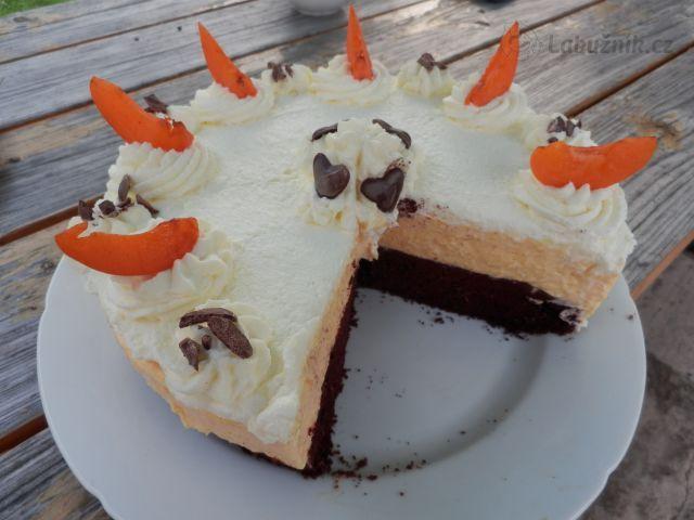 Mangoruňkový dort pod obraz