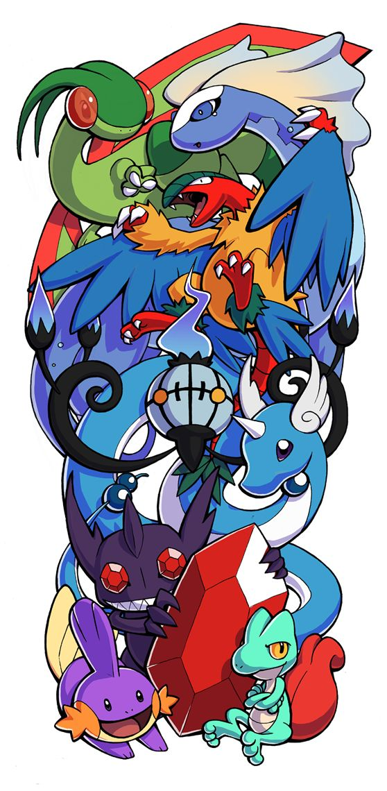 Pokemon Sleeve 7 by H0lyhandgrenade.deviantart.com on @DeviantArt