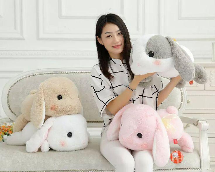50 cm Kelinci Boneka Mewah Klasik Berbaring Kelinci Kelinci Mainan Menghibur Lolita Loppy kelinci Kawaii Plush Bantal untuk Anak-anak Teman gadis