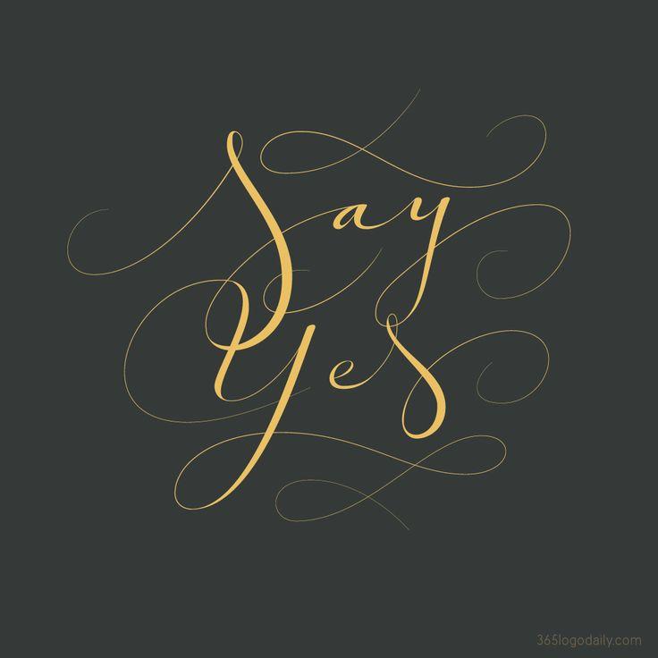 SayYes-calligraphy