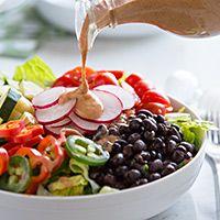 Spicy Chipotle Dressing: non-dairy milk, flaxseed, lemon, apple cider vinegar, medjool dates, garlic, miso, tomato powder, chipotle powder, cumin