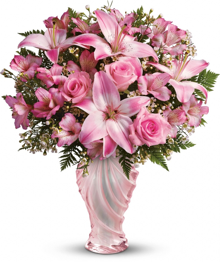 25 best ideas about pink flower arrangements on pinterest for Mothers day flower arrangements