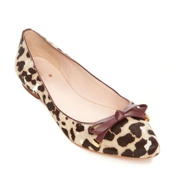 Kate Spade New York Leopard Emma Pointed Toe Flat - Women's (264480 IQD) ❤ liked on Polyvore featuring shoes, flats, leopard, pointy-toe flats, pointed toe shoes, pointed toe flats, pointy toe leopard flats and leopard print flats