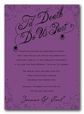 halloween wedding invitationswe are doing a haloween theme and everyones super excited - Halloween Invitation Verses