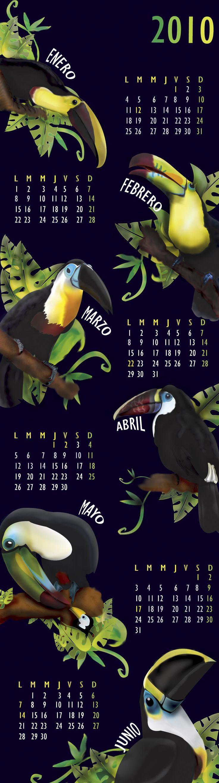 Calendario Ilustrado (adobe Illustrator)