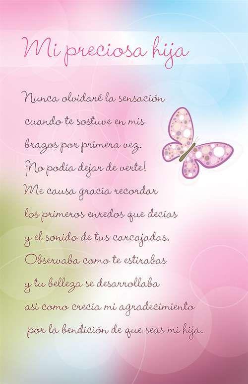 Para mi preciosa hija. Mi reyna Te deseo un maravilloso y feliz cumpleaños que Dios este a tu lado otorgándote vida, salud, amor y bienestar al lado de tu hijita, padres, hermanita y todos los que te aman