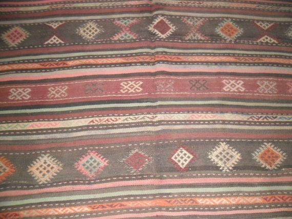 Alfombra turca alfombra vintage antigua alfombra kilim kilim alfombra alfombra kilim alfombra púrpura rosada alfombra lana