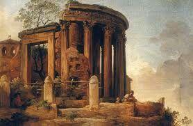 Tempio romano; olio su tela; Bellotto.