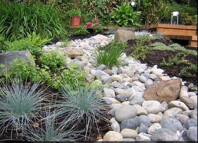 How To Small Gravel River Through Garden Bed