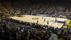 3/13/12  Hawkeyes win!   1st postseason play since 2006.  Great crowd support at Carver.