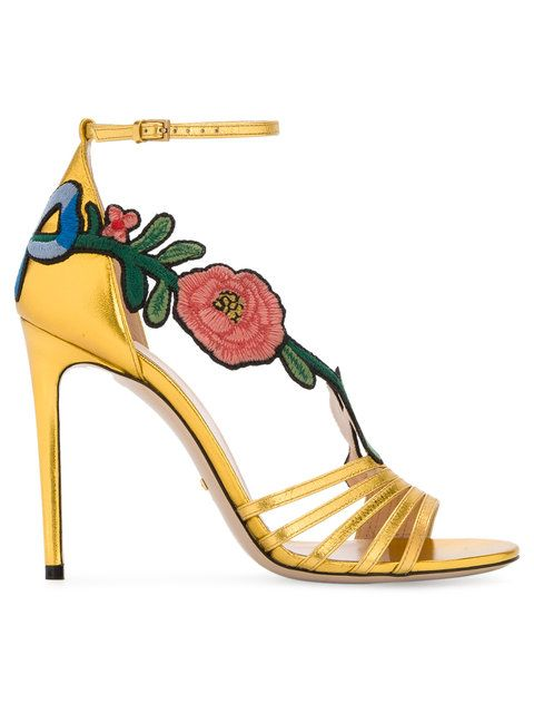 700890b84 GUCCI Ophelia embroidered sandals.  gucci  shoes  sandals