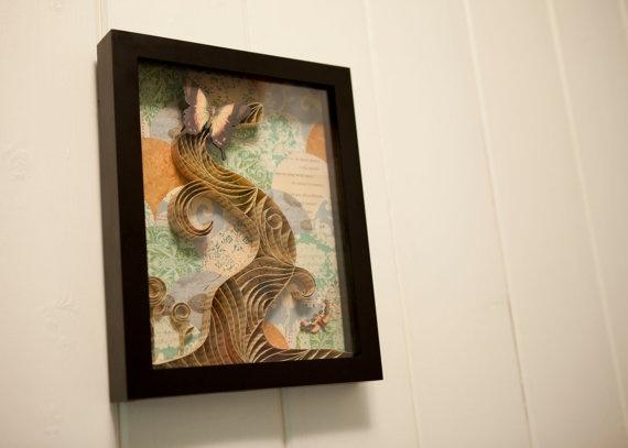 quilled shadowbox: Art Shadowbox, Butterflies, Quilled Shadowbox, Quilled Beauties, Quilled Tree, Paper Art, Paper Crafts, Craft Ideas