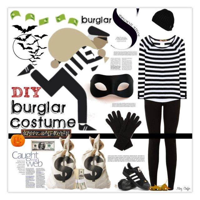 DIY Halloween Costume by mcheffer on Polyvore featuring 81hours, adidas, Johnstons, Volcom, Masquerade, Dot & Bo and diycostume