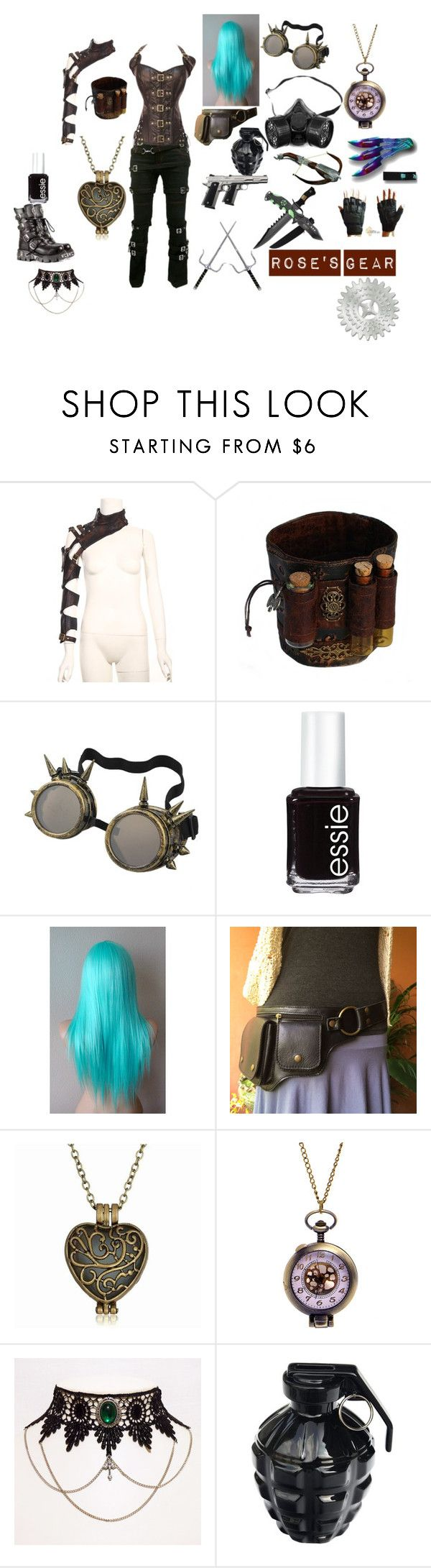 Rose's outfit #1 by wildfire99 on Polyvore featuring Essie, MollaSpace, Demonia, Poizen Industries, women's clothing, women's fashion, women, female, woman and misses