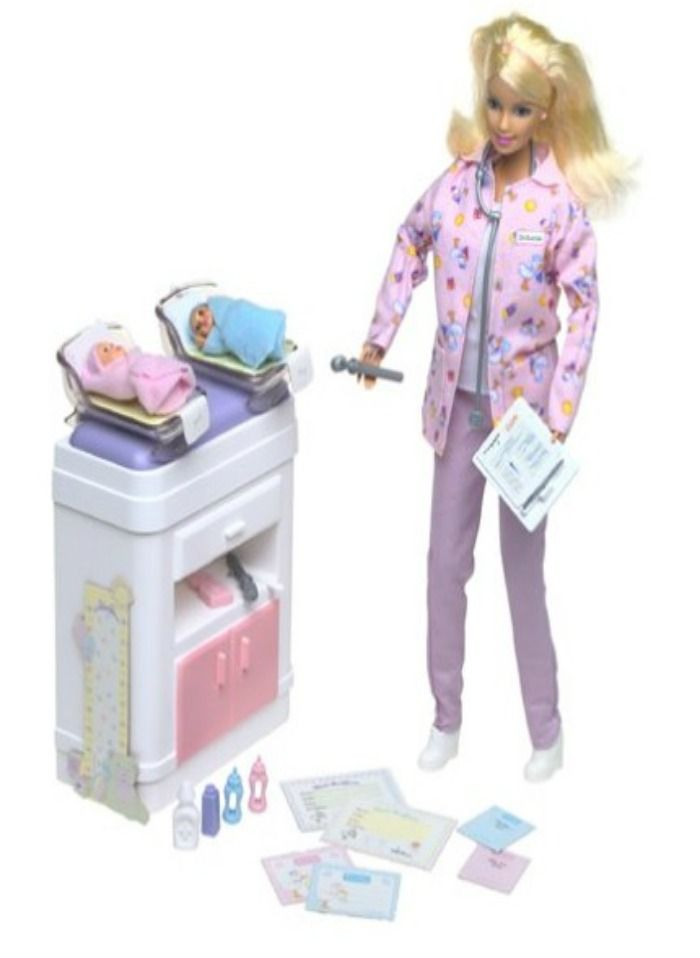 Happy Family BARBIE BABY DOCTOR Doll - Infant Twins & Playset