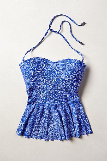 Mix & Match Peplum Tankini Top #anthropologie