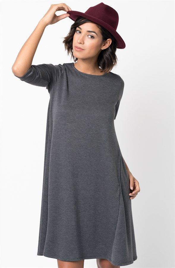 Pocket Terry A-Line Dress