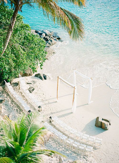 St. Thomas Private Estate Wedding, Seaside Ceremony Space | Brides.com