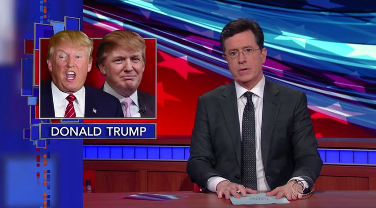 Donald Trump has flip-flopped so much that Stephen Colbert hosted a Trump vs. Trump debate - Vox