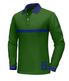 Green polo shirt with blue collar http://www.tailor4less.com/en-us/collections/custom-polo-shirts/long-sleeve-polo-shirts/green-polo-shirt-with-blue-collar