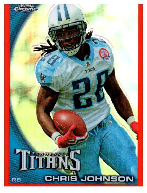 2010 Topps Chrome Chris Johnson Orange Refractor Tennessee Titans