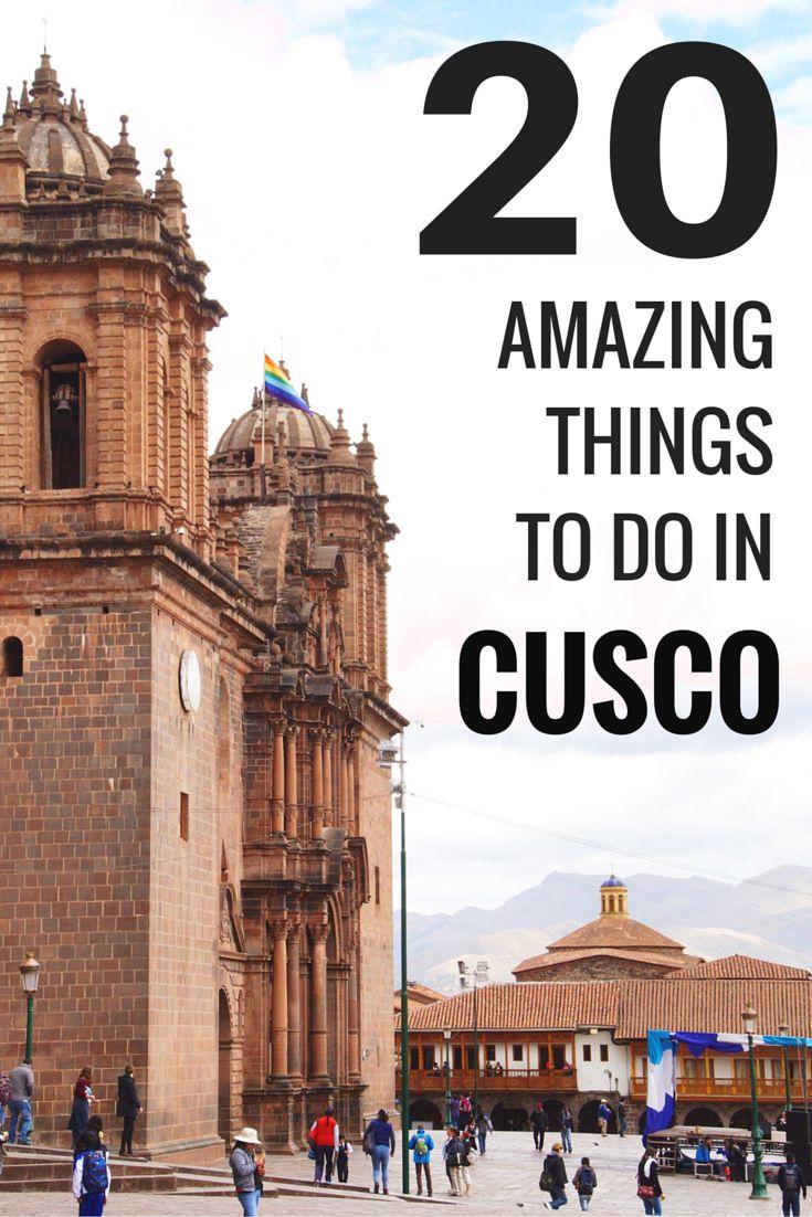Cusco's imperial city enchants its visitors with dazzling temples, ancient cities and a great access to the #Inca ruins. Here you have a list of 20 things you can't miss while you are here. Enjoy! / La #ciudad imperial encanta a sus visitantes con asombrosos templos y su ya famoso acceso a diversas ruinas incas. Aquí te dejamos una lista de 20 cosas que no puedes dejar de hacer mientras estás por aquí. ¡Diviértete!   #Cusco #Peru #mustdo #mustvisit #mustsee #todolist #tourism #turismo…