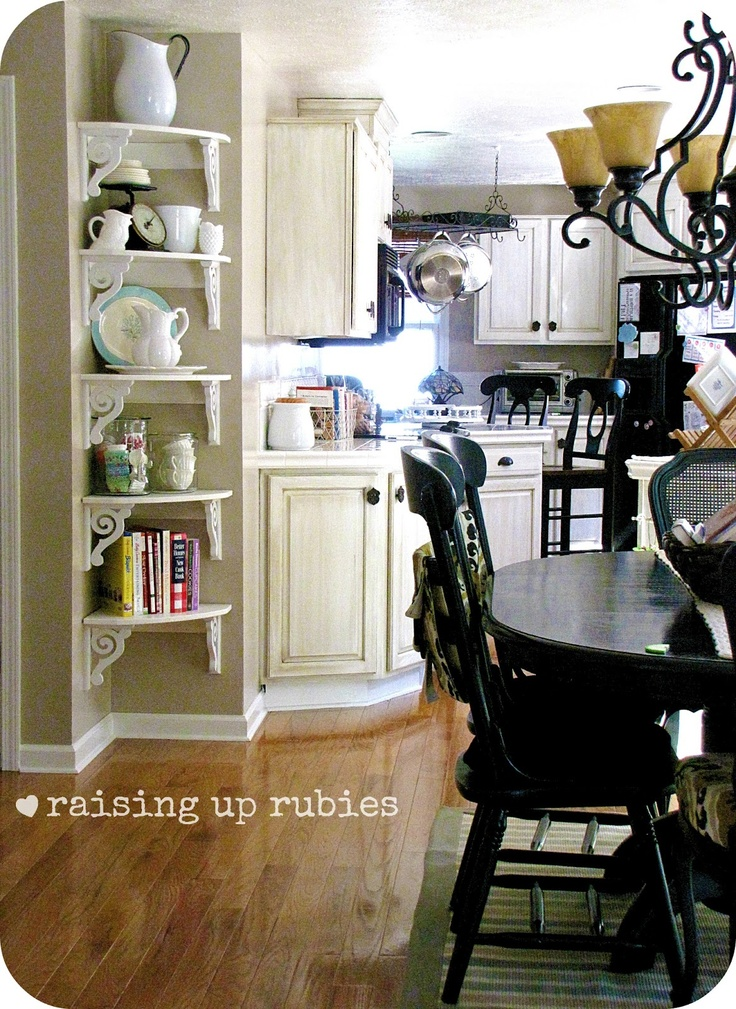 Raising Up Rubies: A Shabby Vintage Kitchen . ♥ These Corner Shelves Would  Look So Good In The Girlsu0027 Room By Their Door. Part 42