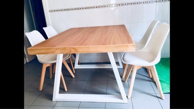 Mesa nórdica ideal para cocina salón de segunda mano por 170 € en ...
