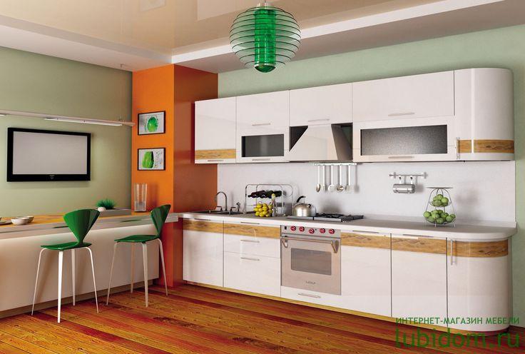 Кухни «Анастасия» (тип 3, в цете Белый глянец с рисунком «Вуд») по доступным ценам в интернет-магазине «Любимый Дом»! #ЛюбимыйДом #интернетмагазин #lubidom #кухня