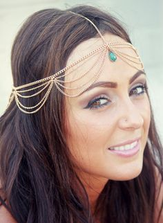 CHAIN HEADPIECE chain headdress head chain by LovMely on Etsy