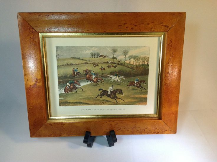 Vintage Lithograph Print of Vale of Aylesbury Steeple Chase By FC Turner Framed #Impressionism