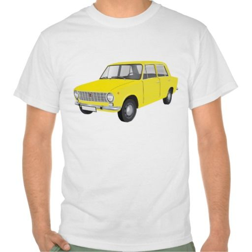FIAT 124 Berlina yellow  #fiat124 #60s #automobile #automobiles #tshirt #tshirts #car #italy #italia
