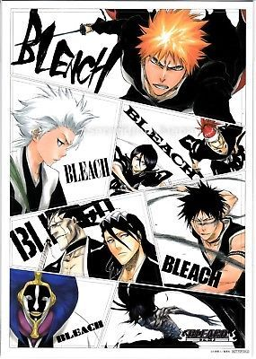 Bleach Anime Soul Magnet Sheet 10x7 Big win-a-prize NFS