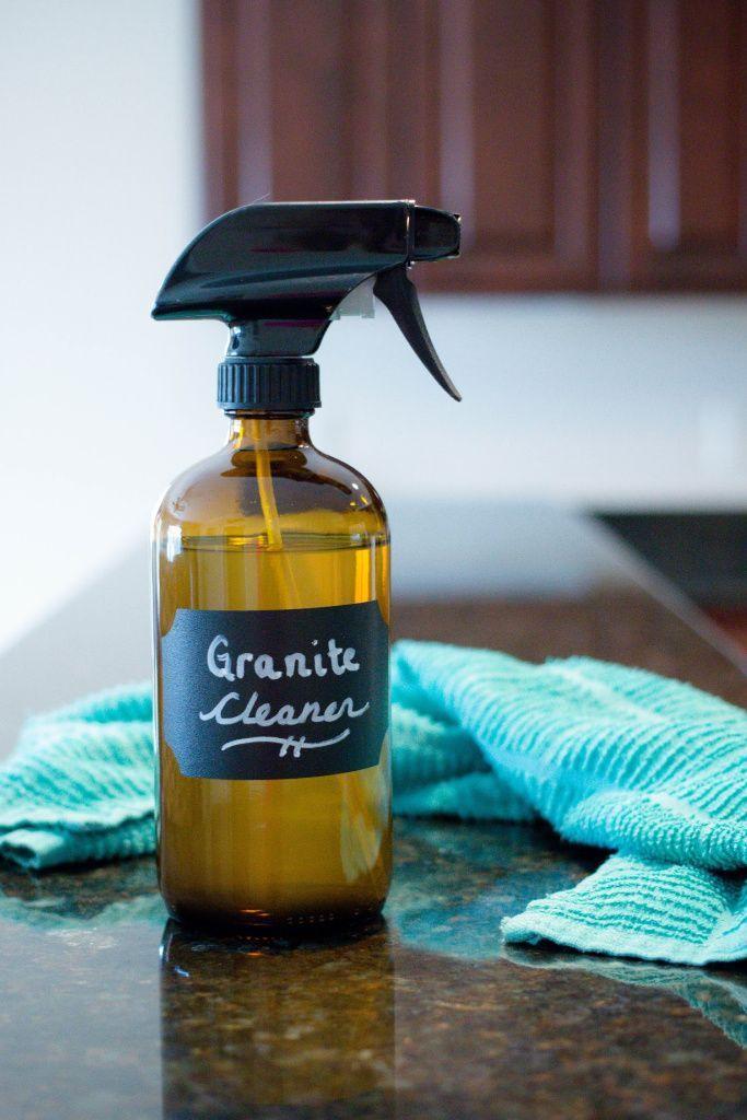 The Best Homemade Granite Cleaner 2 Ingredients Granite Cleaner