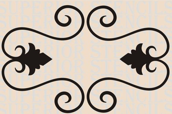 French Stencils For Furniture French Scroll Stencil 17