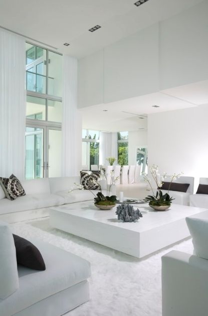 The House Looks Dashing With A White Living Room Design