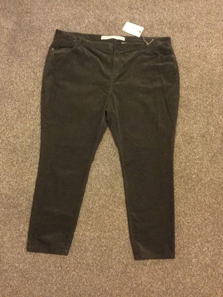 M&S INDIGO Collection Cotton Blend Velvet/Cord trouser UK22 EU50 Short BNWT Mole