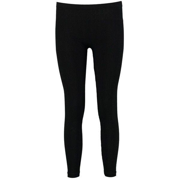 Boohoo Liah Cable Knit Leggings   Boohoo ($11) ❤ liked on Polyvore featuring pants, leggings, elastic waist pants, flat-front pants, stretch waist pants, cable leggings and cotton pants