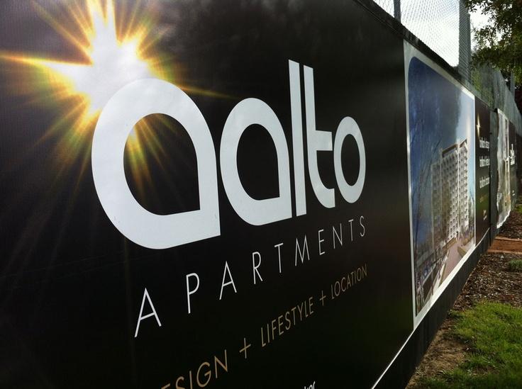 Aalto Apartments - signage design & development