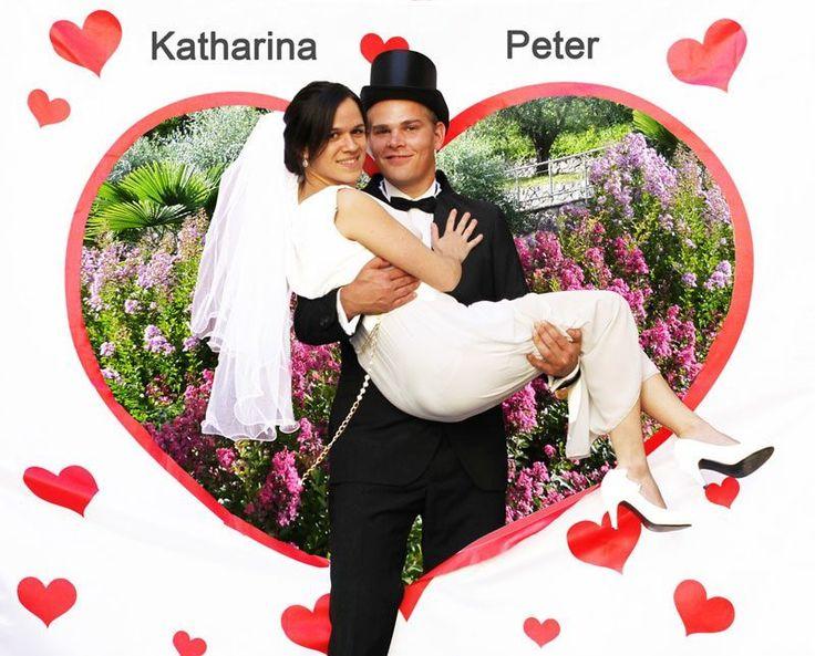 #Hochzeit #Spiel #Herz #Ausschneiden #Brautpaar