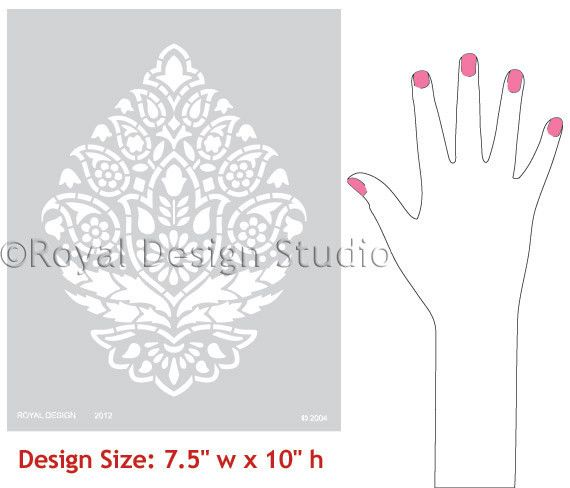 Wall Stencils | Indian Paisley Stencil | Royal Design Studio