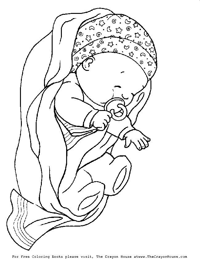 245 best New baby coloring images on Pinterest | Fabric painting ...