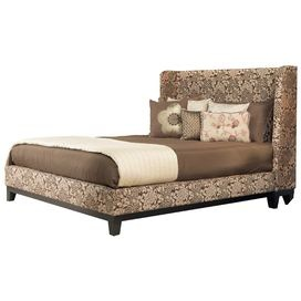 """Perfect for your guest room or master suite, this eye-catching angelo:HOME design inspires Sunday morning sleep-ins and breakfasts in bed.Product: BedConstruction Material: Tropical mahogany wood, metal and leather upholsteryColor: Coffee floral  Features: Designed by Angelo Surmelis Metal to metal bed rail fittings for easy assembly and long term durability    Dimensions: Full: 52"""" H x 58"""" W x 83"""" D  Queen: 52"""" H x 64"""" W x 88"""" D King: 52"""" H x 80"""" W x 88"""" D   California King: 52"""" H x 76"""" W x…"""