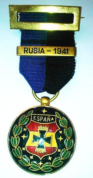 Medalla que otorgaba España a los caidos de la Division Azul caidos en el frente Ruso