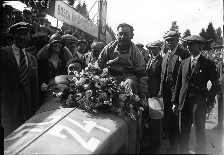 "Boris Ivanowski Борис Ивановский, officer of the Russian Imperial Guard, self-exiled after the Russian revolution; racing driver; won the 24-hour ""Bol d'Or"" race in St. Germain (1926); won the Spa 24 Hours with Attilio Marinoni in an Alfa Romeo (1928); won the Irish Grand Prix (1929); class win at the 24 Hours of Le Mans with Henri Stoffel in a Mercedes-Benz SSK (1931). pictured after his Spa win (1928)"