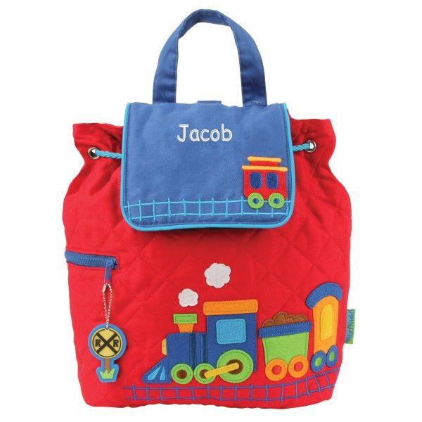 Personalized Choo-choo Train Embroidered Backpack | Dibsies Personalization Station