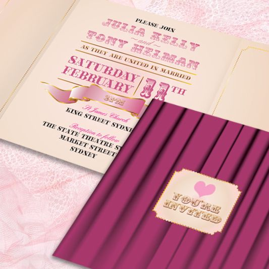Announce Your Wedding In Theatrical Style With Our Latest Printable Stationery Range