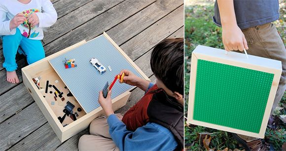Portable LEGO Storage Box and Carrying Case from Knick Knack Wood Shack on Etsy